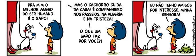 Armandinho (personagem) afirma que melhor amigo do homem é o sapo