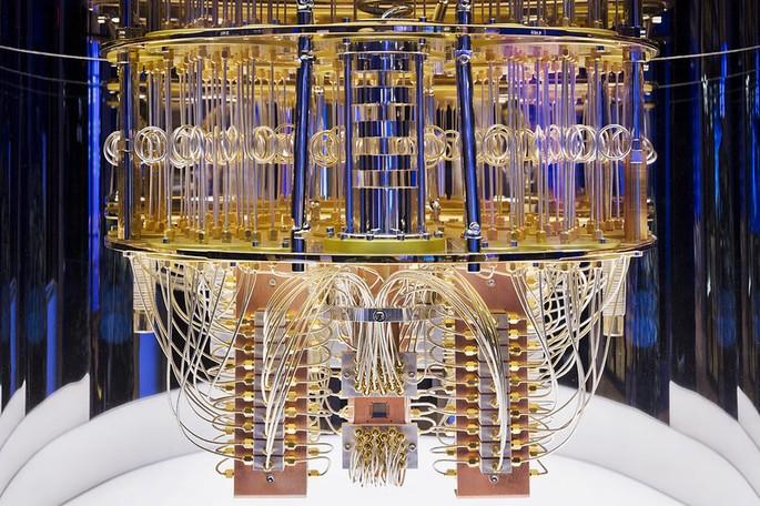 Interior de um computador quântico