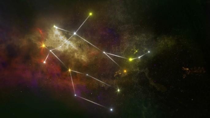 Concepção artística da constelação de Gêmeos