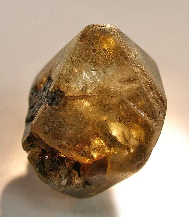 Diamante amarelo bruto