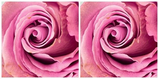 Comparação entre uma imagem JPEG de qualidade e outra depois de compactada