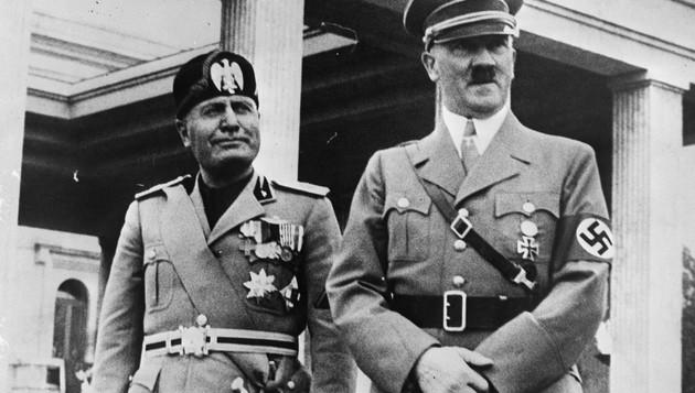 Hitler e Mussolini em 1937
