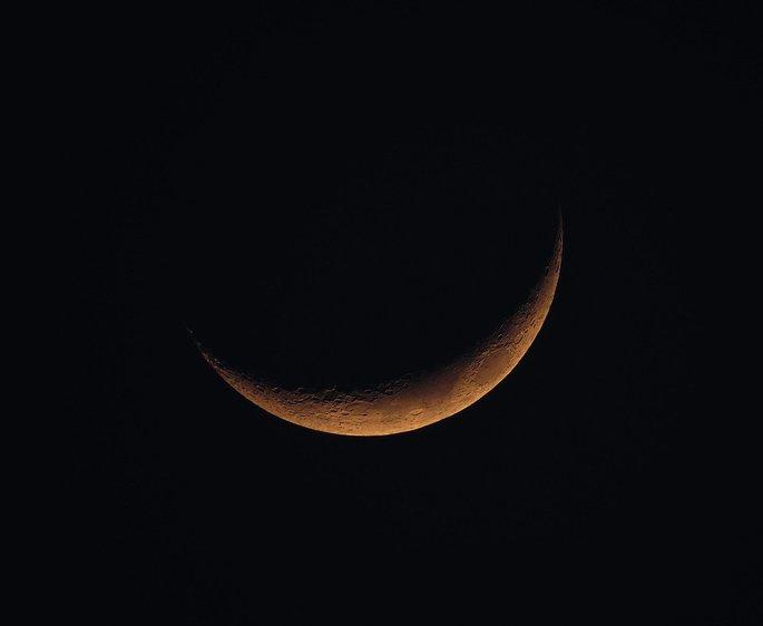foto da lua nova aproximada