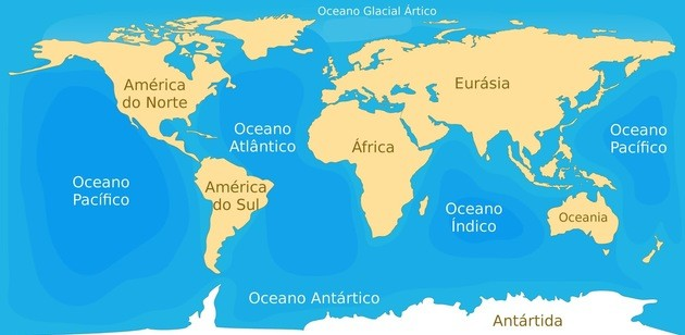 Os oceanos da Terra
