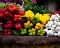 Os tipos de legumes e vegetais