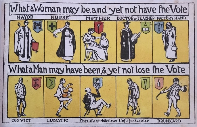 Poster Sufrágio Inglaterra