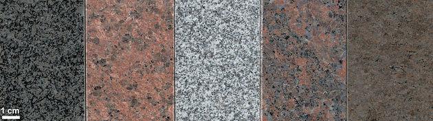 Os tipos de granito podem variar dependendo da composição mineral