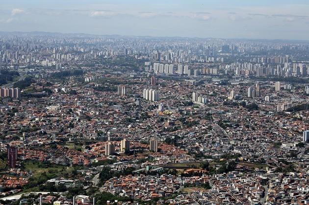 Vista aérea da cidade de São Paulo