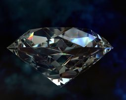 Zircônia e diamante